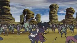 Madara battling the Fourth Division
