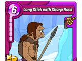 Long Stick with Sharp Rock