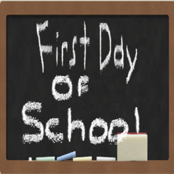 First Day of School Title Card