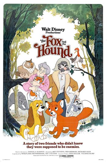 The fox and the hound poster walt disney