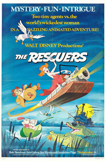 The Rescuers 1977 poster disney