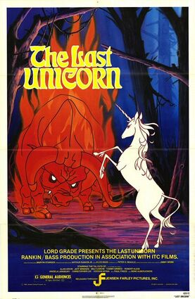 The last unicorn 1982 poster