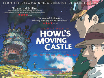 Howl's moving castle english poster 1