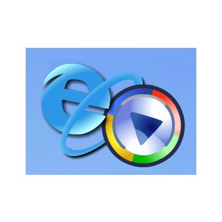 Windows Media Player hit the E of Internet Explorer