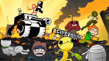 The Dark Lord attacks Newgrounds and cause massive havoc while The Chosen One trying to Stop him.