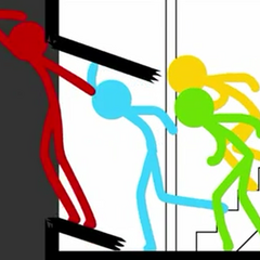 The Stick Figures discovering what's outside.