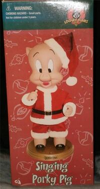 loony tunes animated singing porky pig 2002 awesome holiday decoration - Porky Pig Sings Blue Christmas