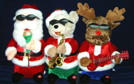 filechristmas band toys collectionjpg - Singing Christmas Toys