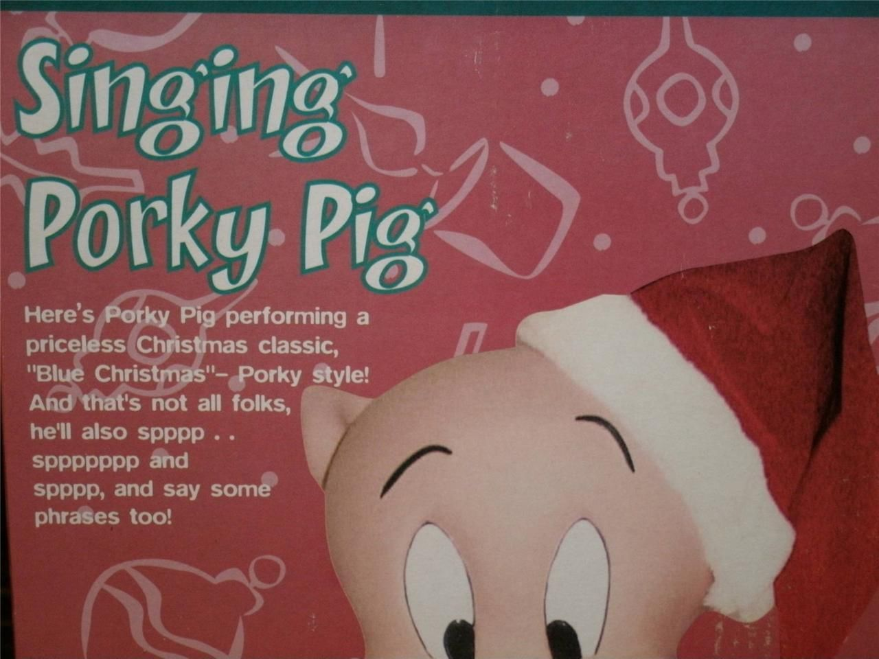 loony tunes animated singing porky pig 2002 awesome holiday decoration 2jpg - Porky Pig Sings Blue Christmas
