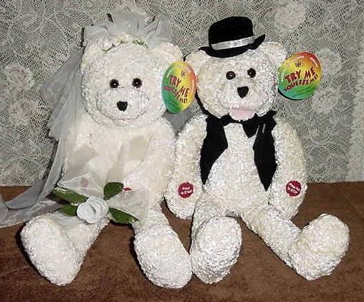 f09a6856cb5 Bride  amp  Groom Singing Animated Bear Plush Dolls by TLC Int. ...