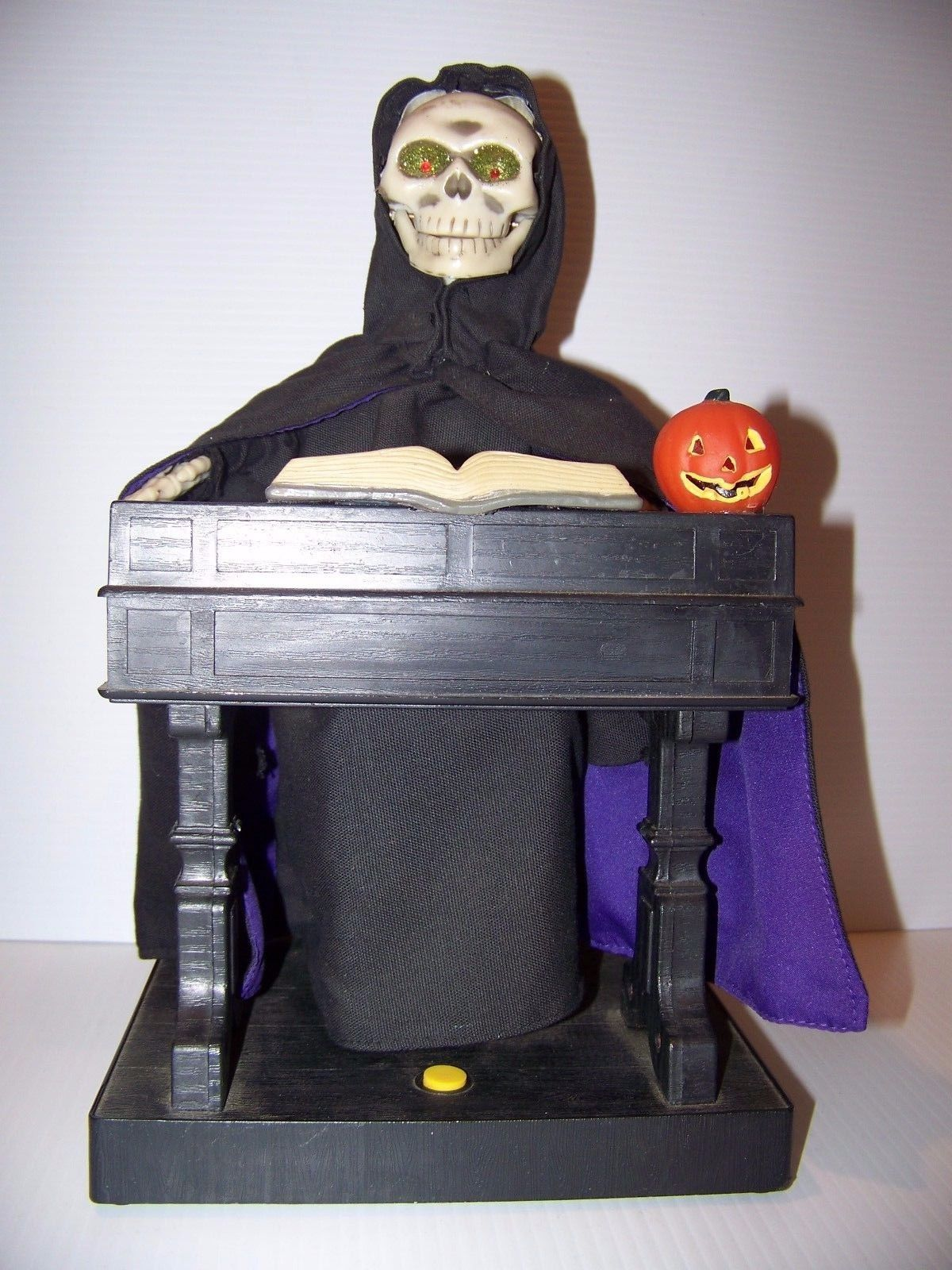animated grim reaper playing organ piano vtg gemmy halloween great balls firejpg - Www Gemmy Com Halloween