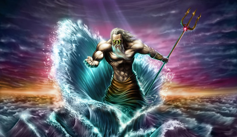 mythology poseidon the god of the sea Poseidon was the god of the sea and protector of all aquatic animals and features he was one of the more popular greek gods, along with his brothers hades and zeus.