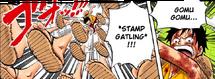 Gomu Gomu no Stamp Gatling