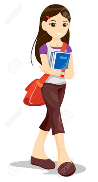 4127729-Teen-Student-with-Clipping-Path-Stock-Vector-student-girl-school