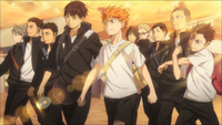 Das Karasuno-Volleyball-Team