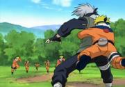 Naruto surprises Kakashi