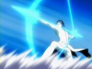Uryu frist seen using his powers
