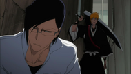Uryu and Ichigo discussing