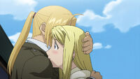 Adult Edward Elric and Winry Rockbell