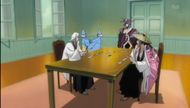 Kyoraku and Ukitake watch their Zanpakuto play