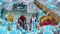 Luffy Faces Three Admirals