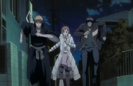 Ichigo and the others search for Nozomi
