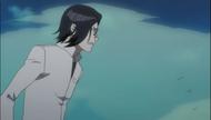 Uryu watching Ichigo fight