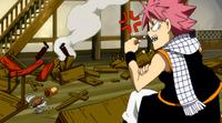 Natsu angry at a guildmate