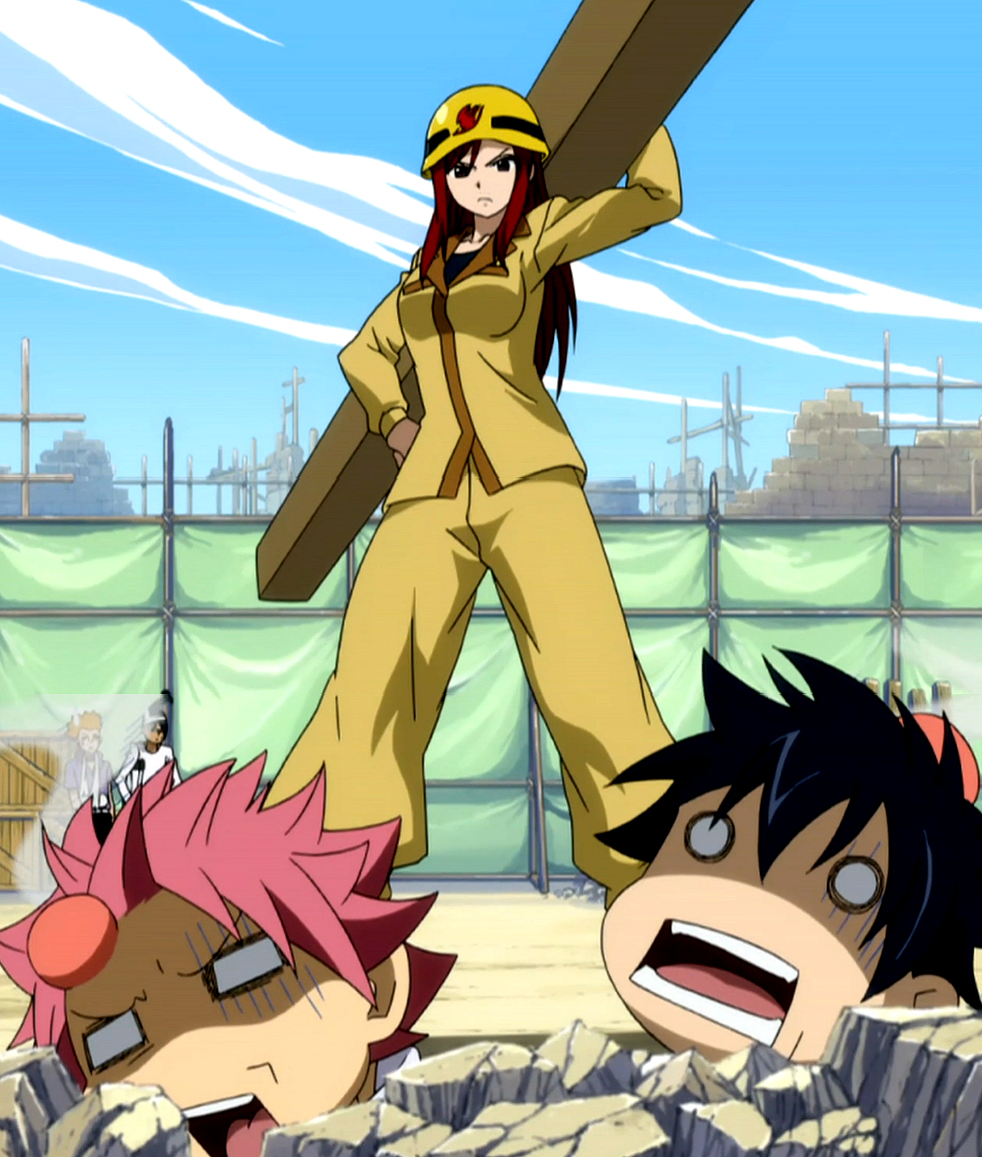 Image result for erza construction worker fairytail