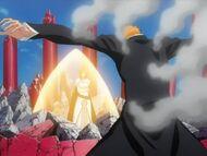 Ichigo protects Nel & Orihime