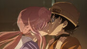 Yukiteru and Yuno (First Kiss)