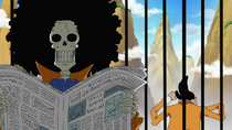 Brook Reading Newspaper
