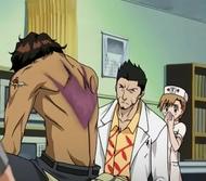 Isshin (& Yuzu) examine Sado's wound