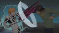 Chad punches Ichigo