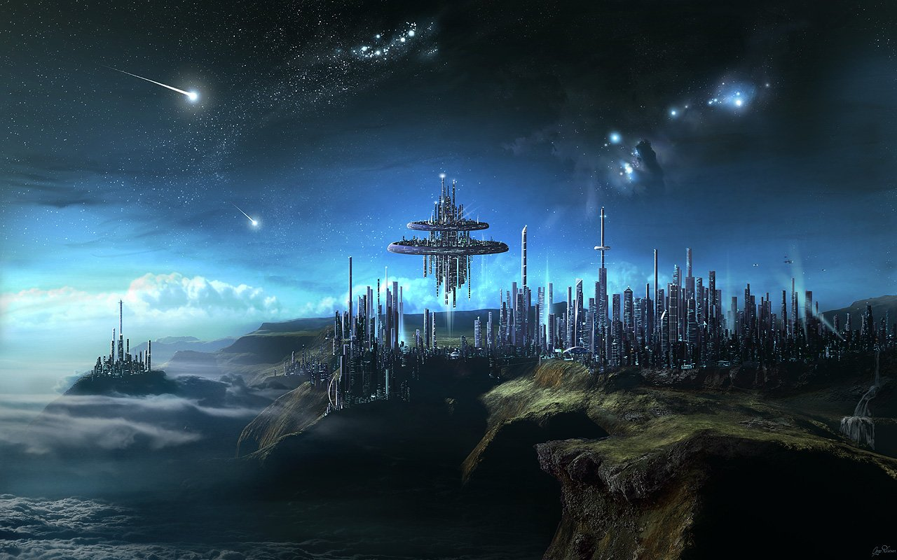image - 8589130472616-fantasy-space-city-wallpaper-hd | anime