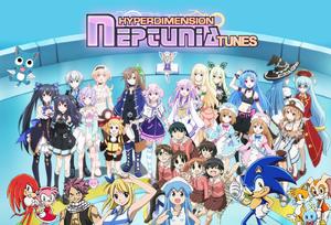 Hyperdimension Neptunia Tunes Poster