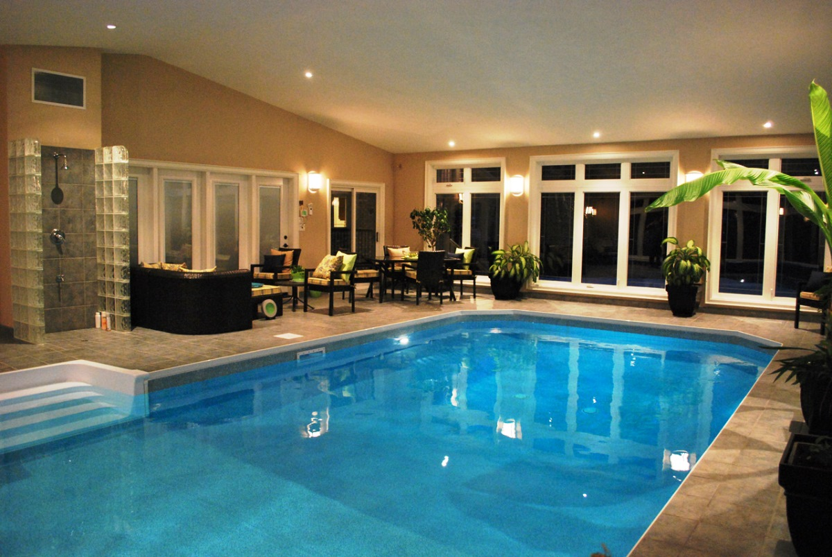 Bon Rooms With Indoor Pools Photo 33 On Indoor Swimming Pool Designs  Intended For Swimming Pool House Design Ideas