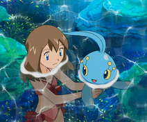 May and Manaphy in the Ocean