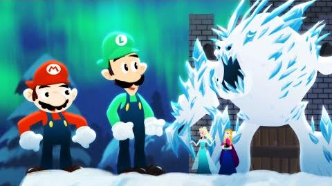 Mario Bros. vs. Frozen Sisters - ANIMEME RAP BATTLES