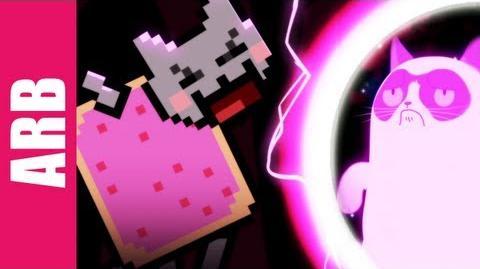 Grumpy Cat vs. Nyan Cat - ANIMEME RAP BATTLES-0