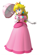 Princess peach with parasol by peachfan25-d3a12na