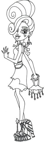 File:Frights camera action draculaura monster high coloring page.png
