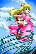 Peach y mario titanic by makushimo-d39jb9q