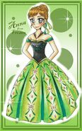 Frozen anna coronation dress by mikiartspademagic-d76xpn2