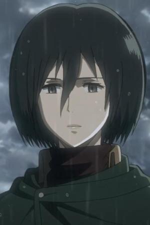 Mikasa in the rain