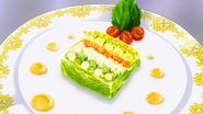 Nine Vegetable Terrine (Food Wars Ep 10)