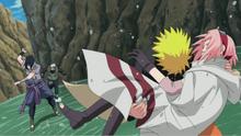Naruto saving Sakura