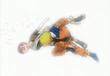Naruto beats Gaara