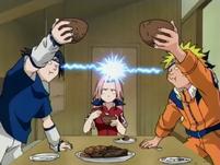 Sasuke vs. Naruto in an eating contest