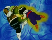 Guldo kneed gohan in the stomach a